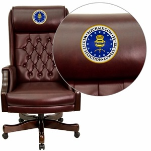 leather executive office chair high back flash furniture embroidered high back traditional tufted burgundy leather YNPQVTK