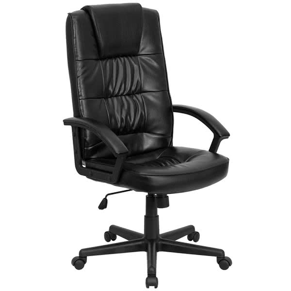 leather executive office chair high back flash furniture go-7102-gg high-back black leather executive office chair SCFYMBG