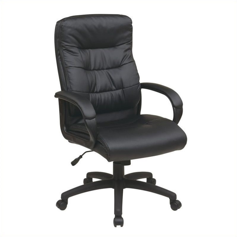 leather executive office chair high back high back faux leather executive office chair in black RDEAPFT