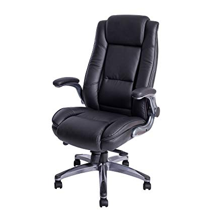 leather executive office chair high back kadirya high back bonded leather executive office chair - adjustable TEYACAC