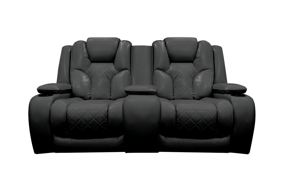 leather reclining loveseat with console bastille power reclining loveseat with console from gardner-white furniture EMUFJCH