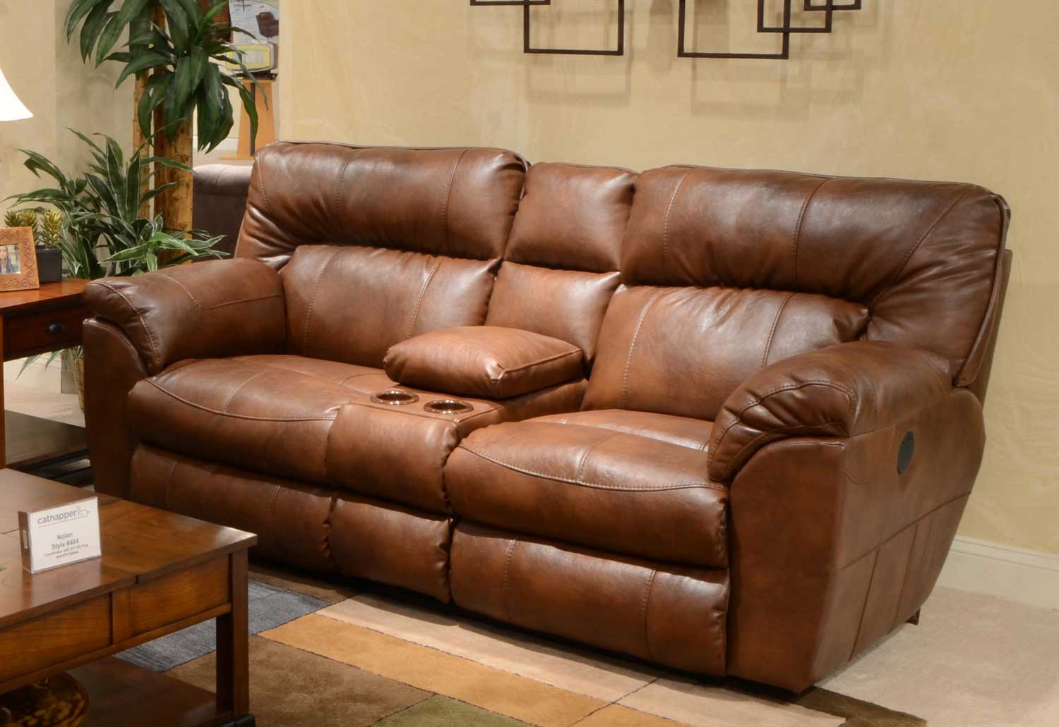 leather reclining loveseat with console catnapper nolan leather extra wide power reclining console loveseat with MEFCBOM