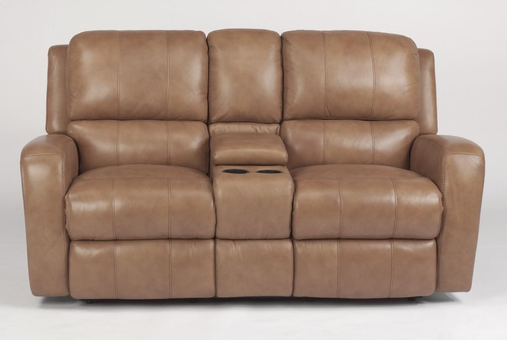 leather reclining loveseat with console hammond leather power reclining loveseat with console AGBOKWA