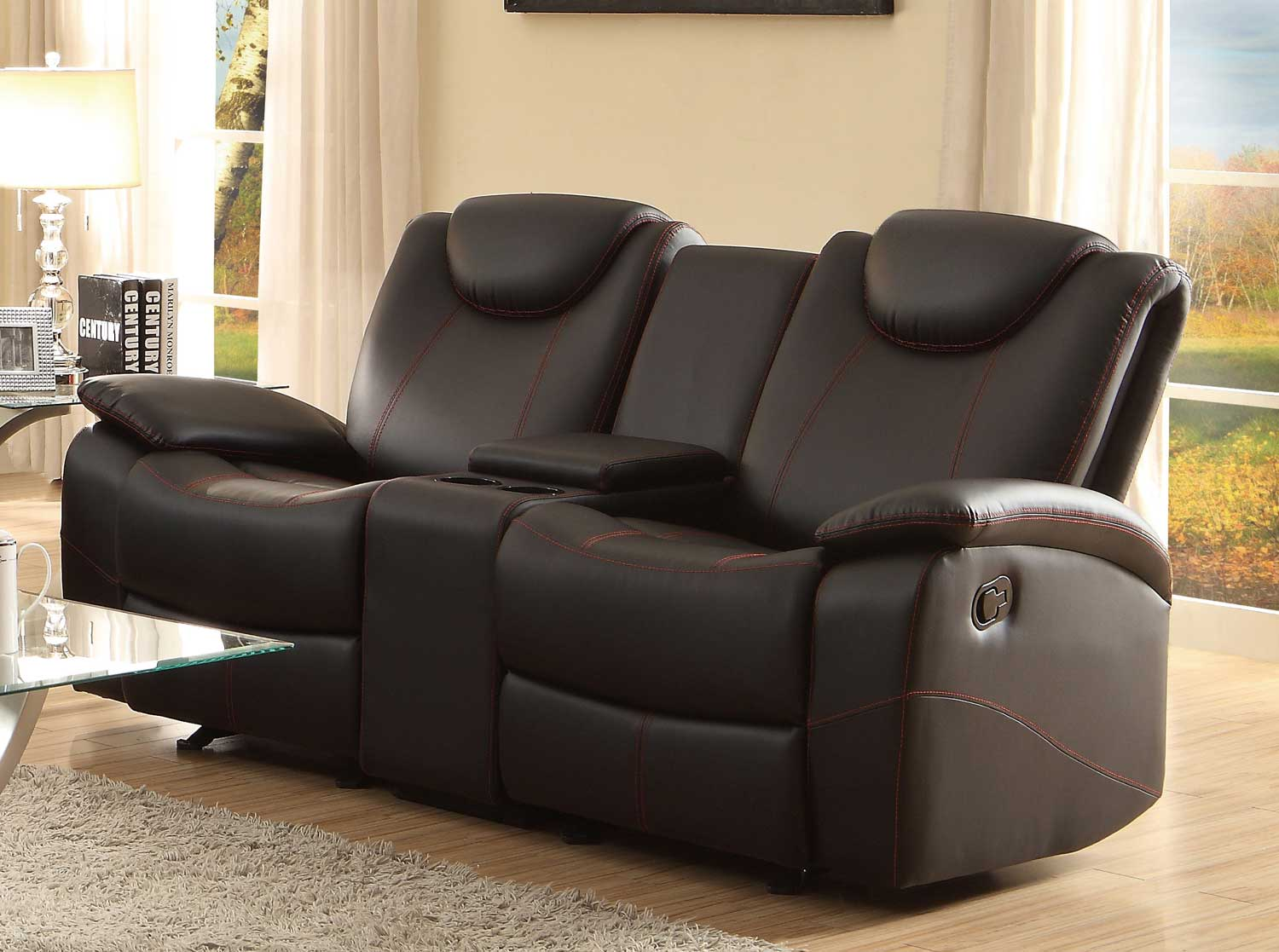 leather reclining loveseat with console new leather reclining loveseat with center console 57 about remodel JHZNNWD