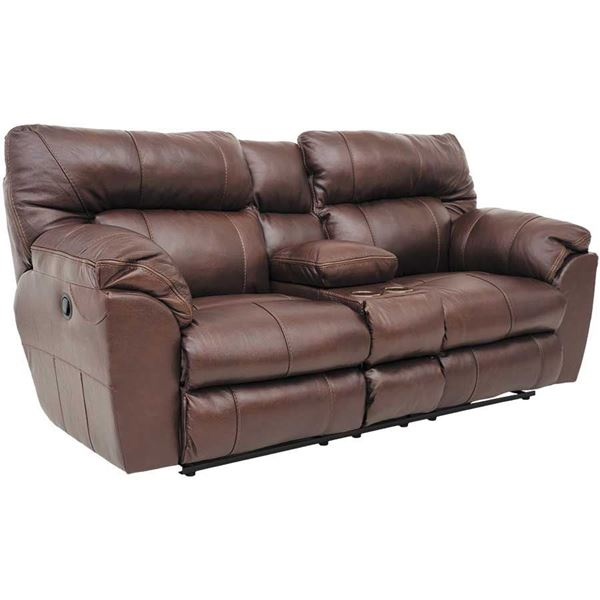leather reclining loveseat with console picture of walnut italian leather console recline loveseat XAOPRQV