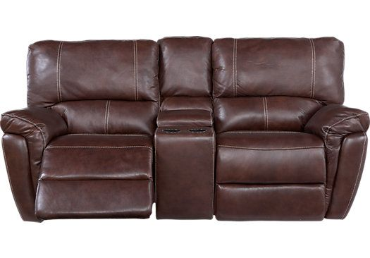 leather reclining loveseat with console shop for a browning bluff brown leather reclining console loveseat RSLRDNL