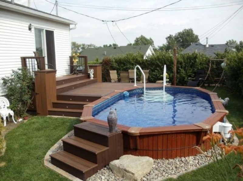 lovely above ground pool landscaping ideas on a budget - 1 NFAUEII
