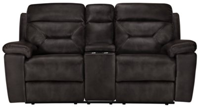 microfiber reclining loveseat with console phoenix dark gray microfiber reclining console loveseat KNNDRGI