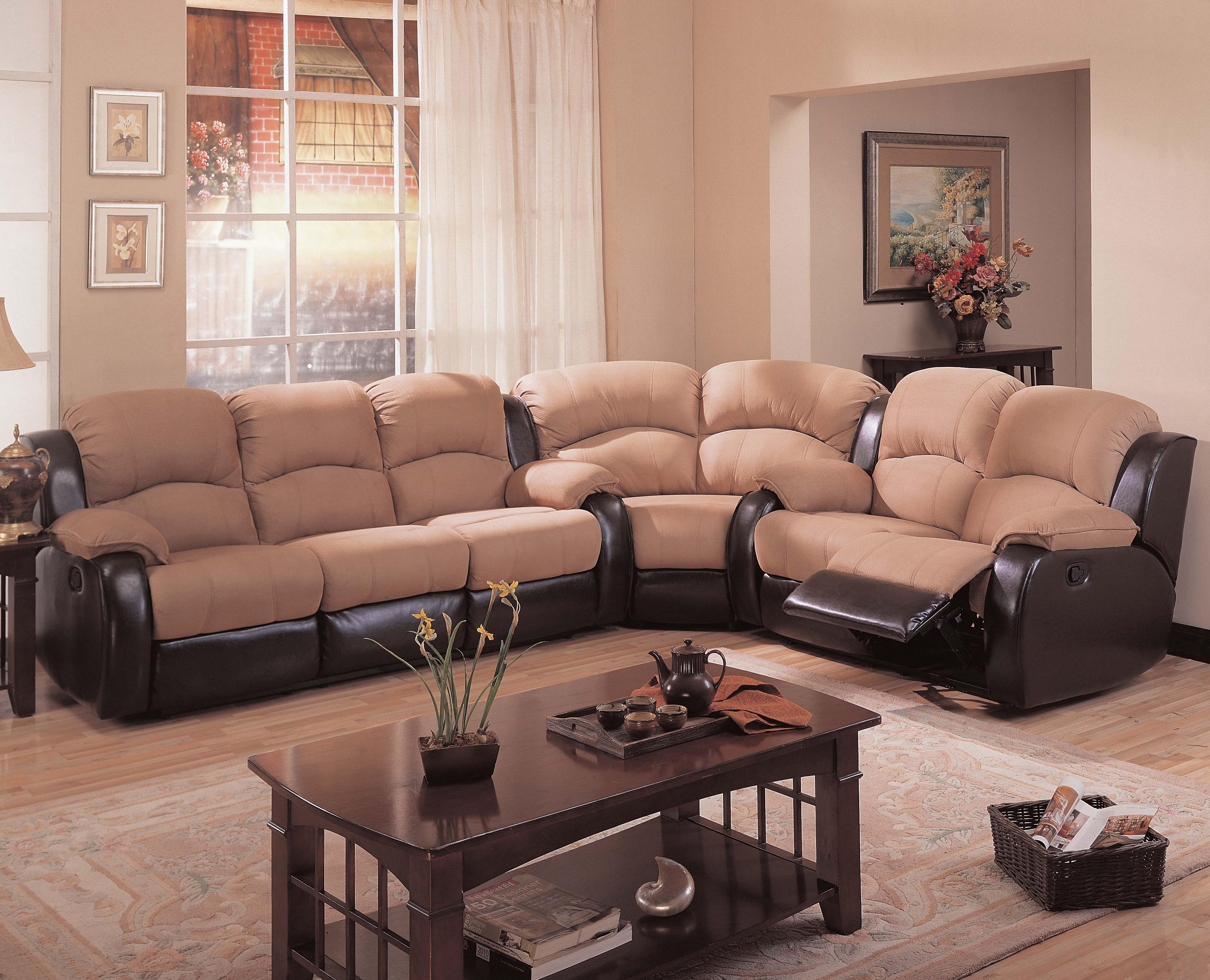 microfiber sectional couch with recliner ... living room furniture reclining sofa leather recliner sectional corner PMDIDYU