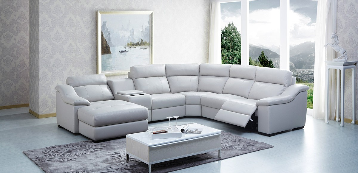 microfiber sectional couch with recliner modern leather sectional sofa with recliners odelia design within leather AUDNFQM