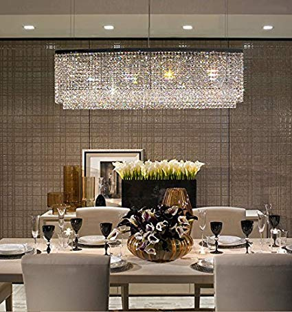 modern crystal chandeliers for dining room siljoy modern crystal chandelier lighting oval rectangular pendant lights PPFHAVO