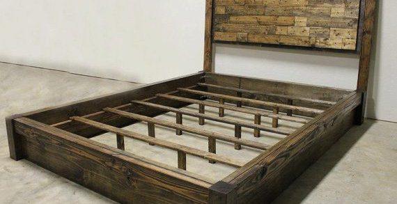 new queen platform bed frame with headboard 48 home kitchen SIMTIET