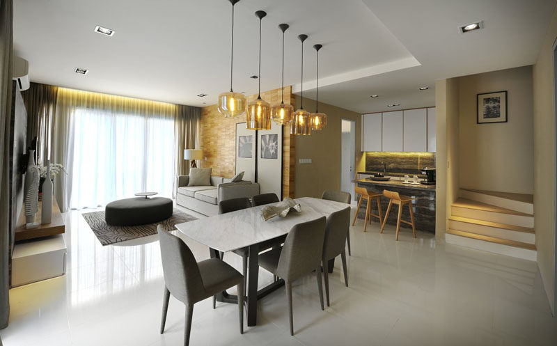 Installing Pretty Pendant Lighting Over Dining Room Table