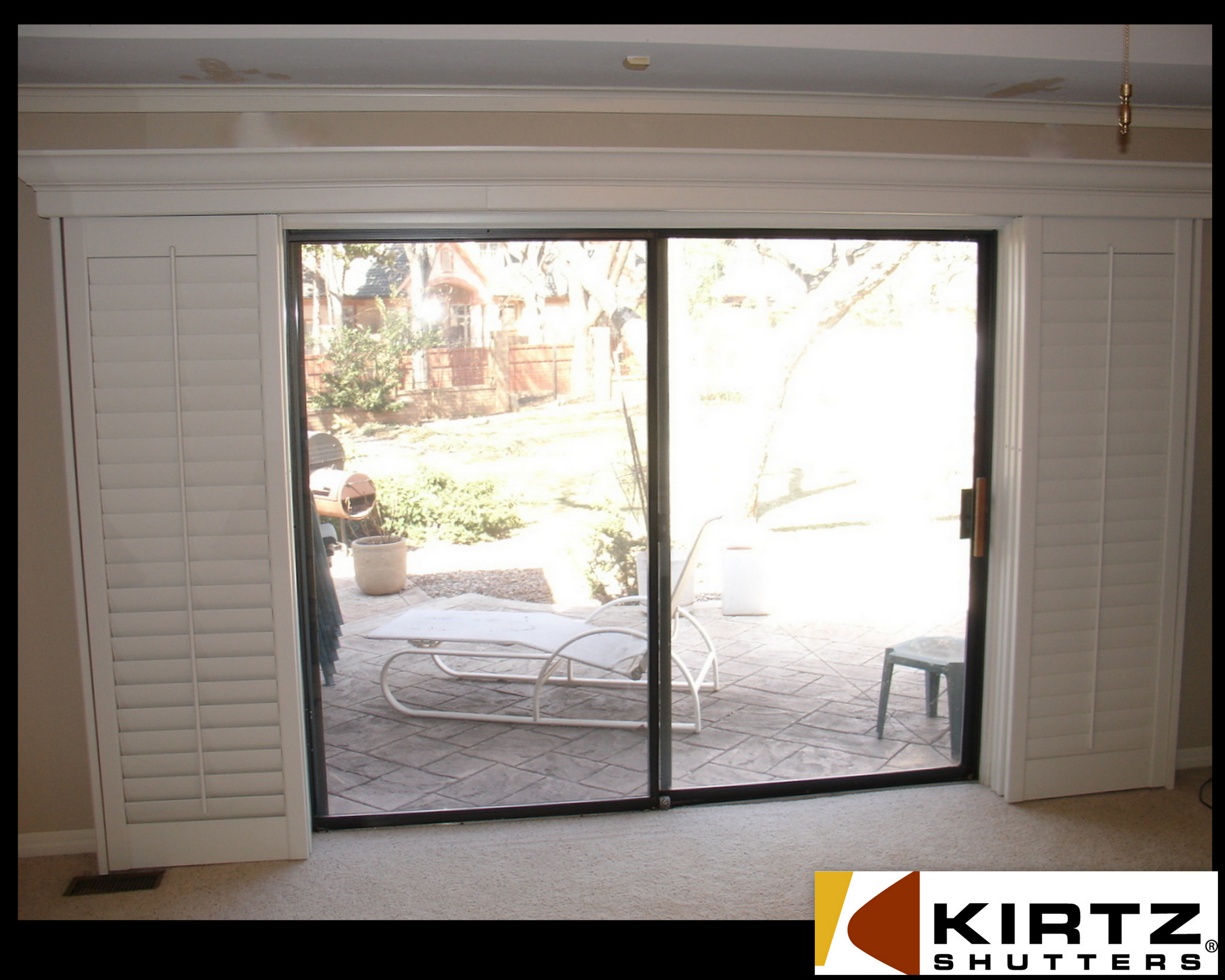 photo gallery for plantation shutters for sliding glass doors DBWDMRK