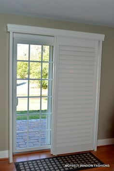 plantation shutters for sliding glass doors custom plantation shutters for sliding glass door by mcfeely window ZFVAWSX