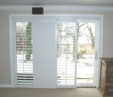 plantation shutters for sliding glass doors plantation shutters on sliding glass door - for family room, GVNBYET