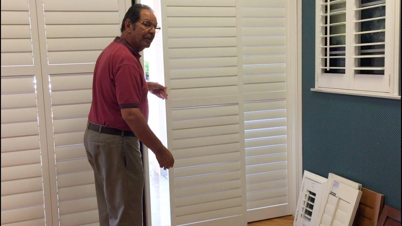 plantation shutters for sliding glass doors - window treatments store PBQSEGH