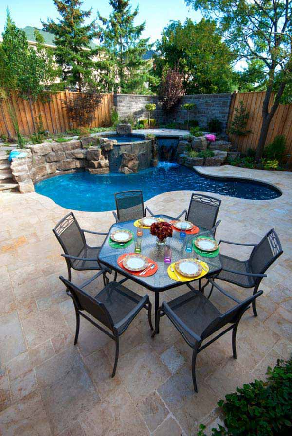 pool landscaping ideas for small backyards small-backyard-pool-woohome-5 DBLYMQU