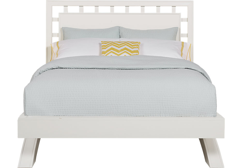 queen platform bed frame with headboard belcourt white 3 pc queen platform bed with lattice headboard GBJWURL
