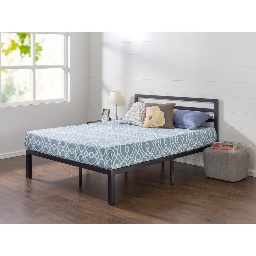 queen platform bed frame with headboard queen metal platform bed frame with headboard KCZFDMQ