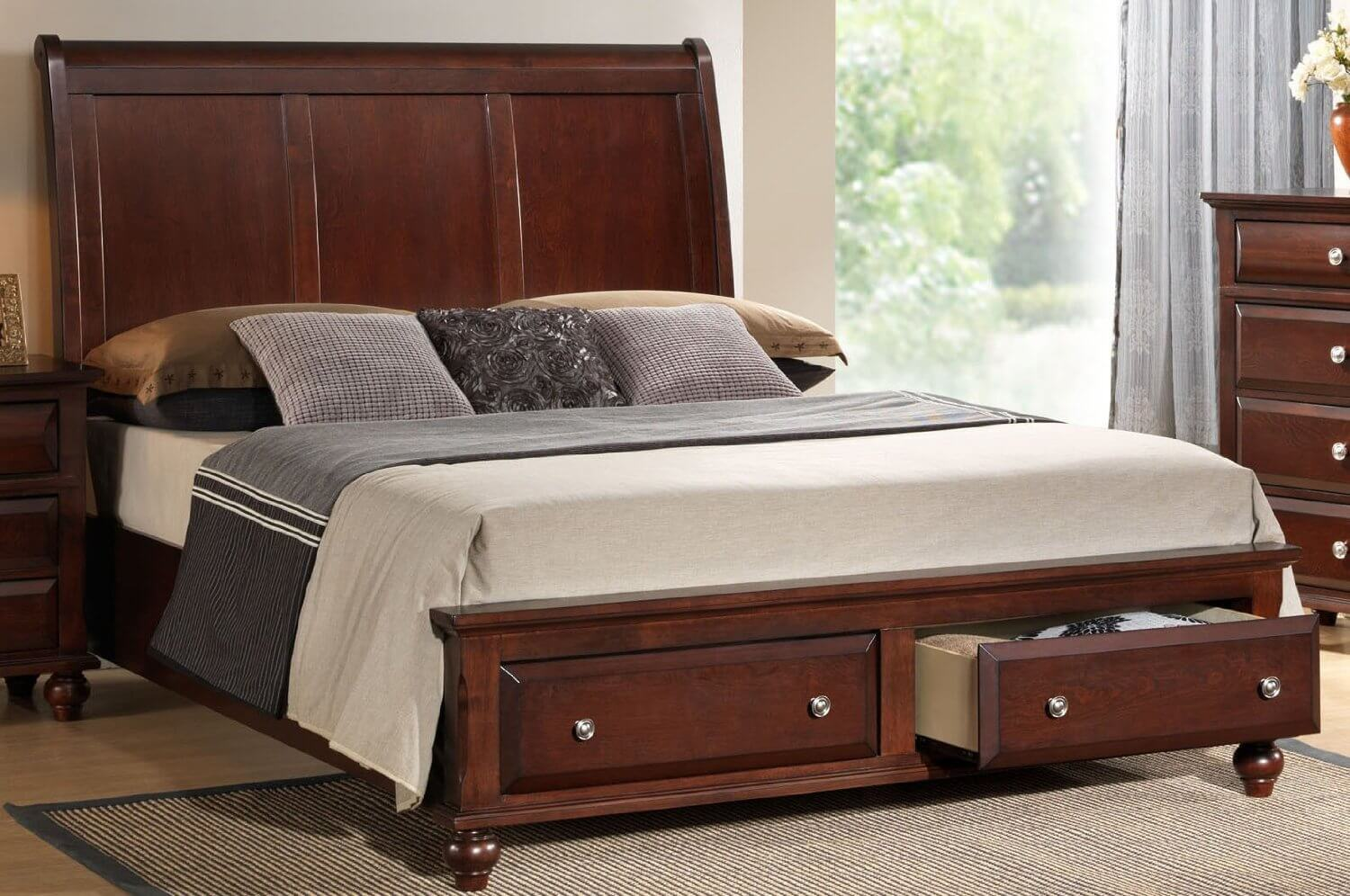 queen size bed frame with drawers underneath 25 incredible queen-sized beds with storage drawers underneath XDEYERG