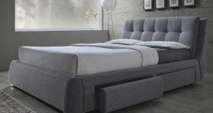 queen size platform bed frame with storage fenbrook grey linen queen size platform bed with storage 300523q. KOFSGQS