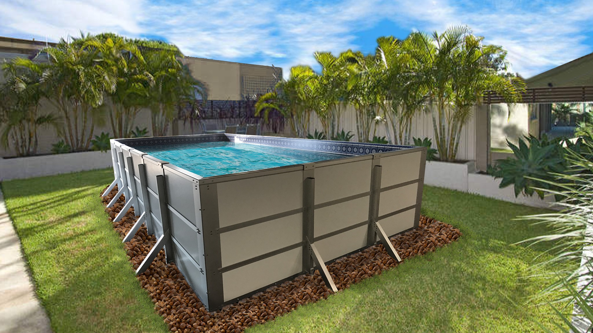 rectangular above ground swimming pools ... ideal for above, semi and in ground applications. it RGQVHFC