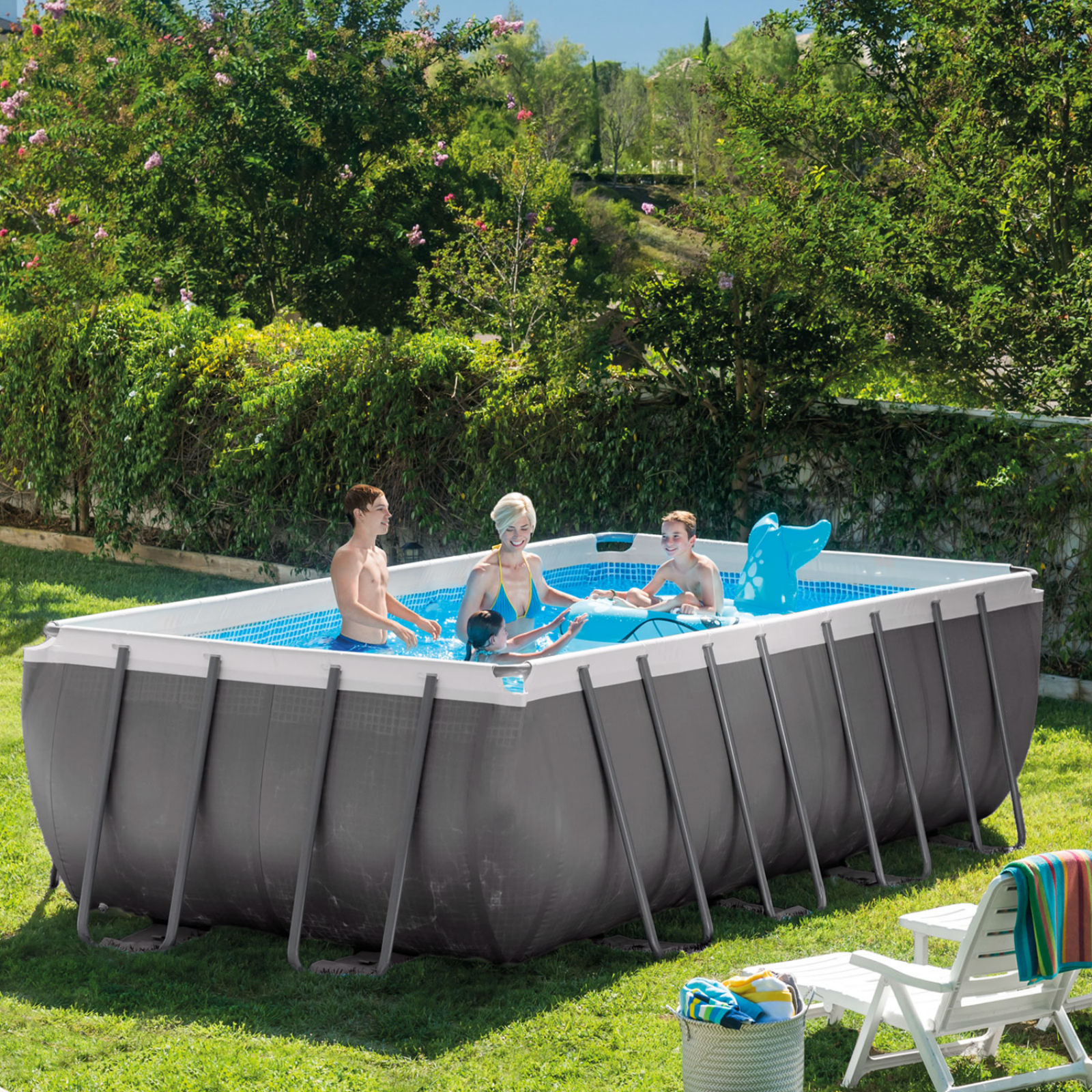 rectangular above ground swimming pools intex 18u0027 x 9u0027 x 52 NNOQMHW