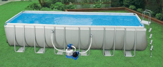 rectangular above ground swimming pools intex 24u0027x12u0027x52 CRGWFXH
