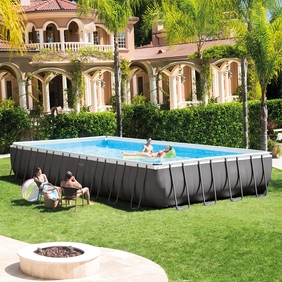 rectangular above ground swimming pools intex 32u0027 x 16u0027 x 52 QSYVTNO