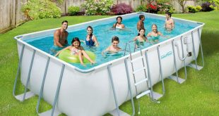 rectangular above ground swimming pools summer waves elite 9 ft. x 18 ft. rectangular 52 RGOBINN