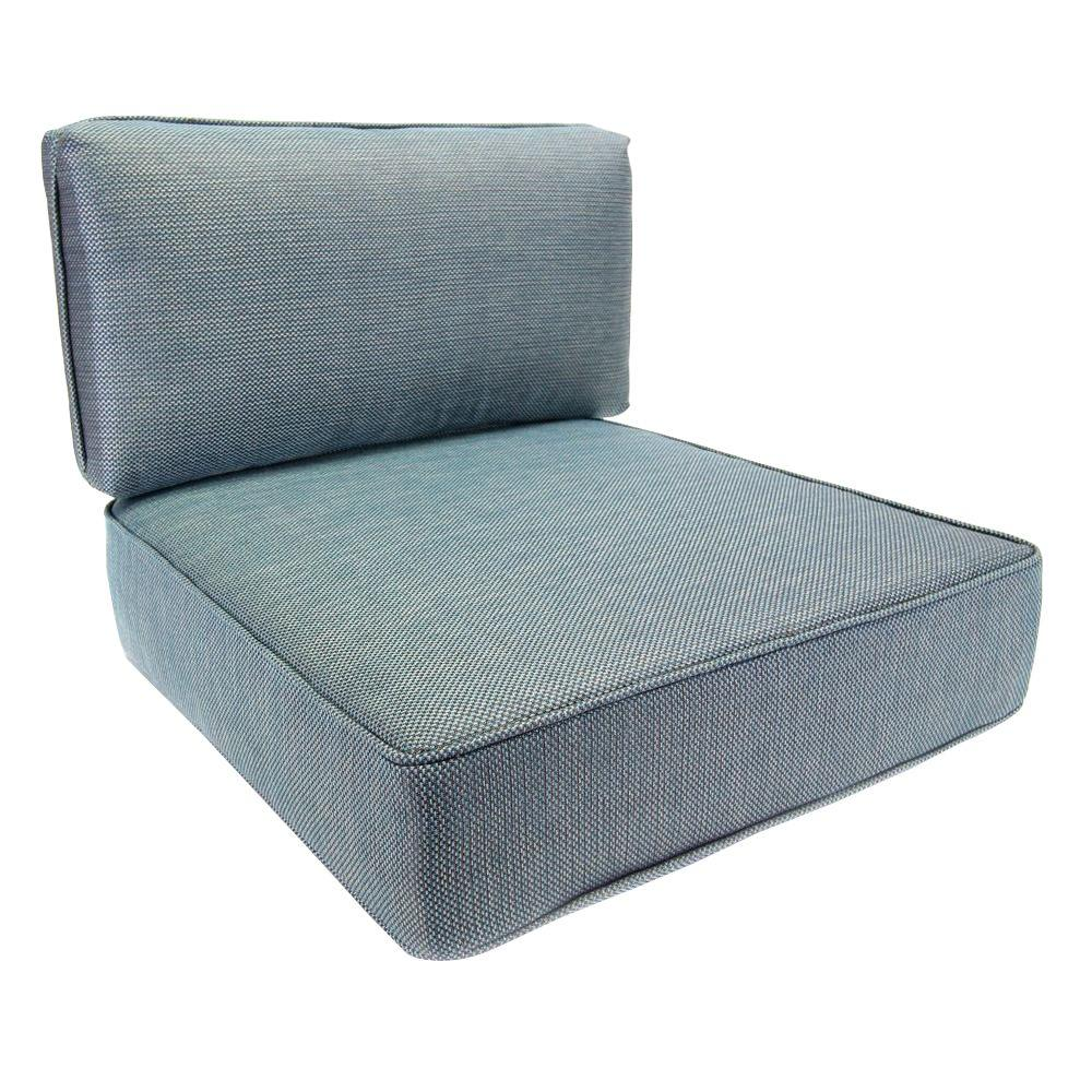replacement cushions for outdoor furniture hampton bay fenton 24.75 x 22.5 outdoor lounge chair cushion TMSRATC