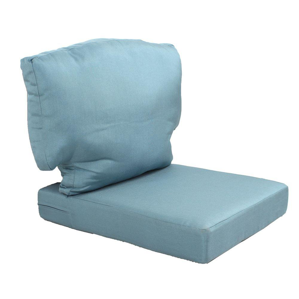 replacement cushions for outdoor furniture martha stewart living charlottetown washed blue replacement outdoor chair DRDSOYV