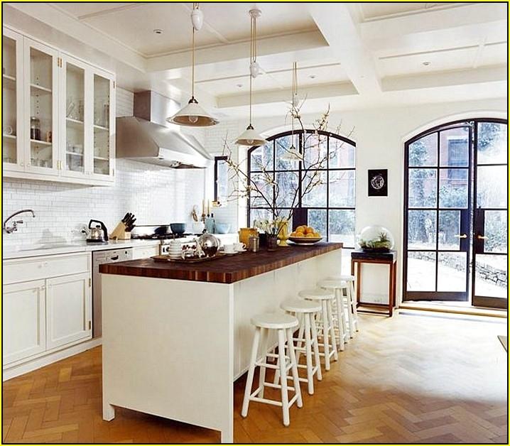 romantic white kitchen island with butcher block top home design JZMWBXY