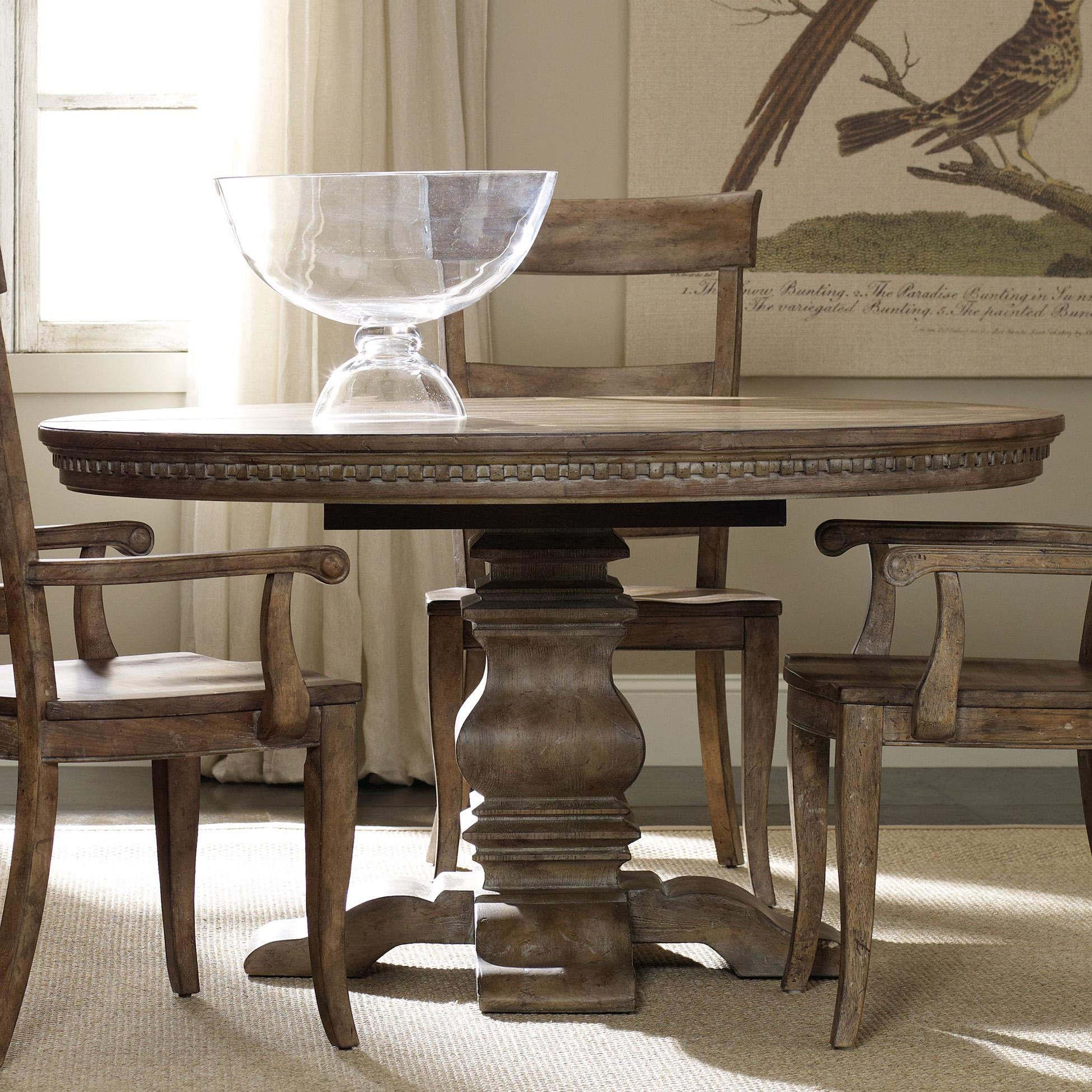 round dining table set with leaf extension hamilton home sorella pedestal dining table - item number: 5107-75203 YLENGJH