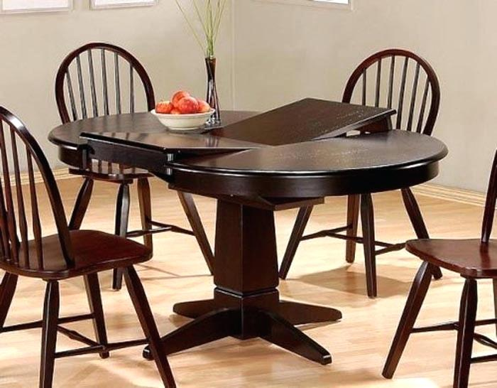 round dining table set with leaf extension round dining table OHJCVKF
