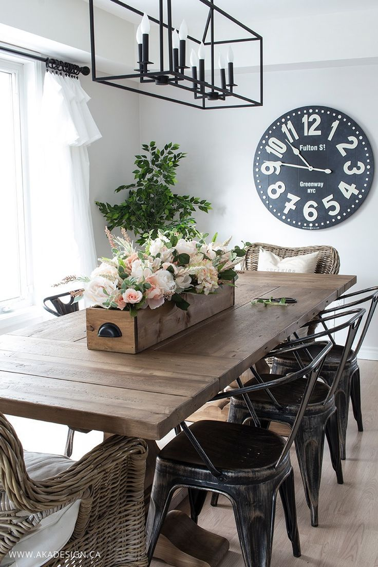 rustic centerpieces for dining room tables diy faux floral arrangement: feminine yet rustic crate | dining VGQJLPM