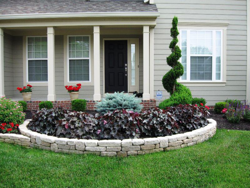 simple beautiful front yard landscaping ideas on a budget QYWFHHM