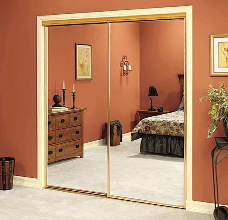 sliding mirror closet doors for bedrooms mirrored bifold closet doors design VWRINXQ