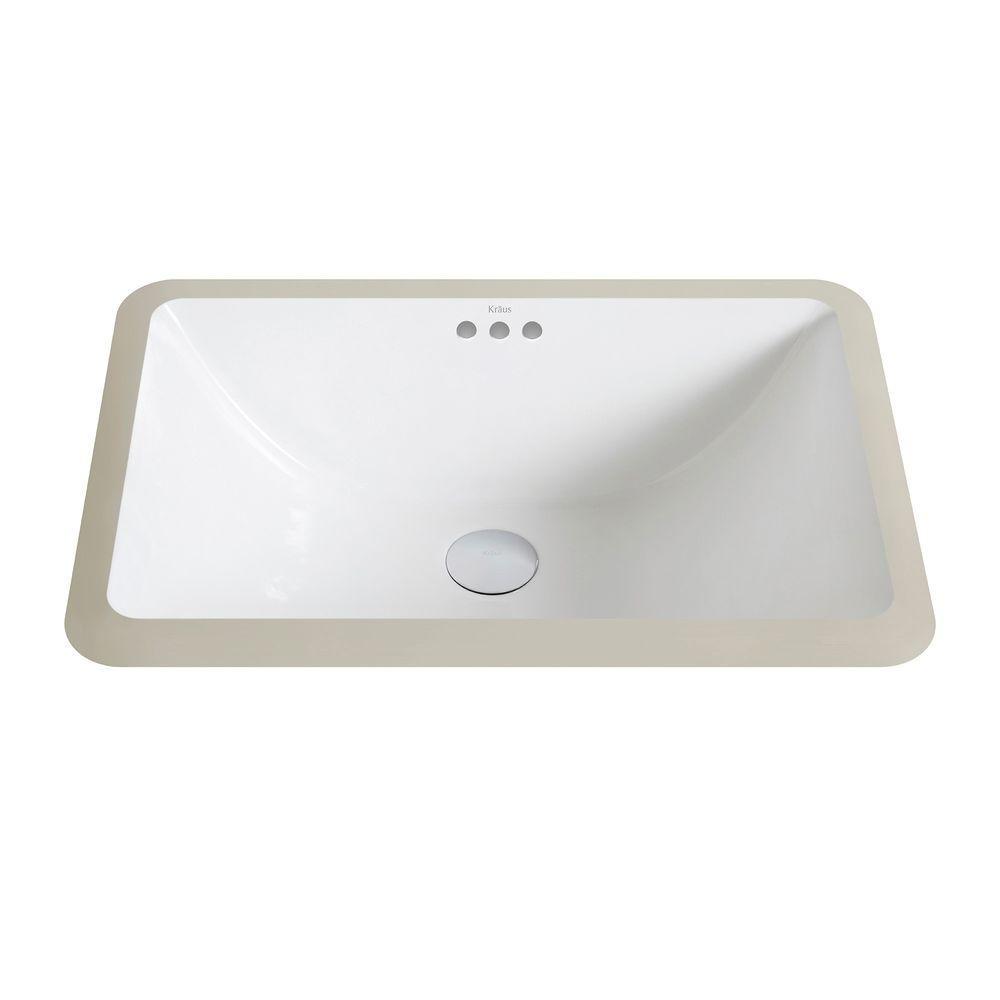 small rectangular undermount bathroom sink kraus elavo small rectangular ceramic undermount bathroom sink in white KNCZVJF