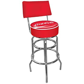 upholstered swivel bar stools with backs coca-cola padded swivel bar stool with back XKDYHQA