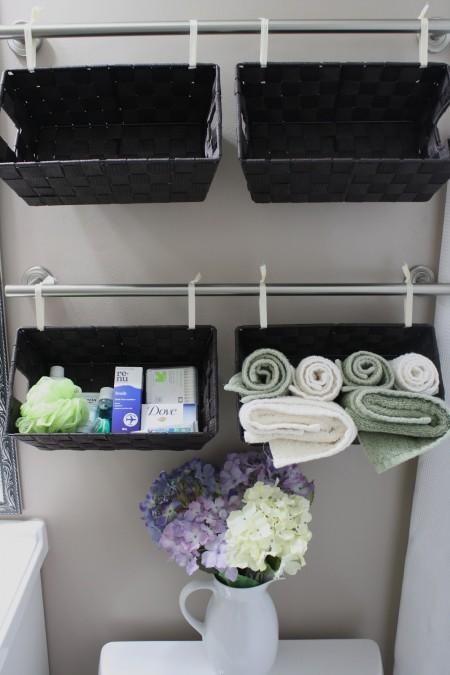 wall hanging baskets for bathroom storage or hang a u201cwall of basketsu201d IBYJRKR