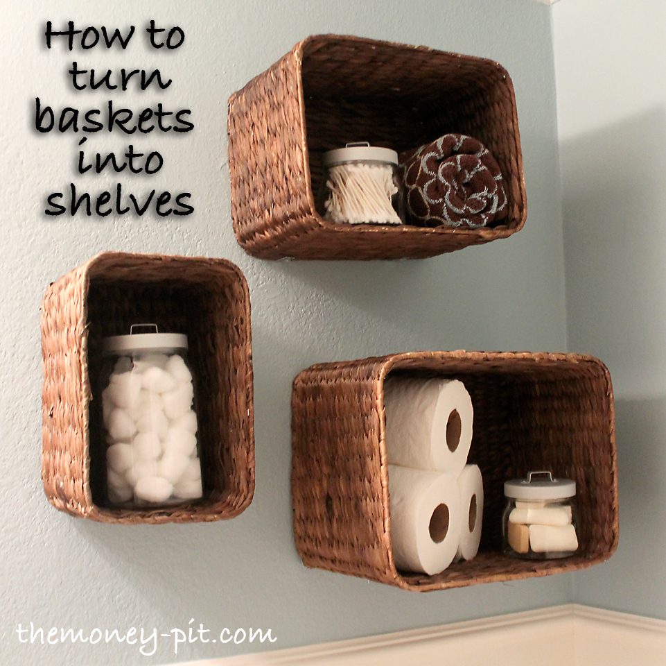 wall hanging baskets for bathroom storage turning baskets into shelves YSHKDBS