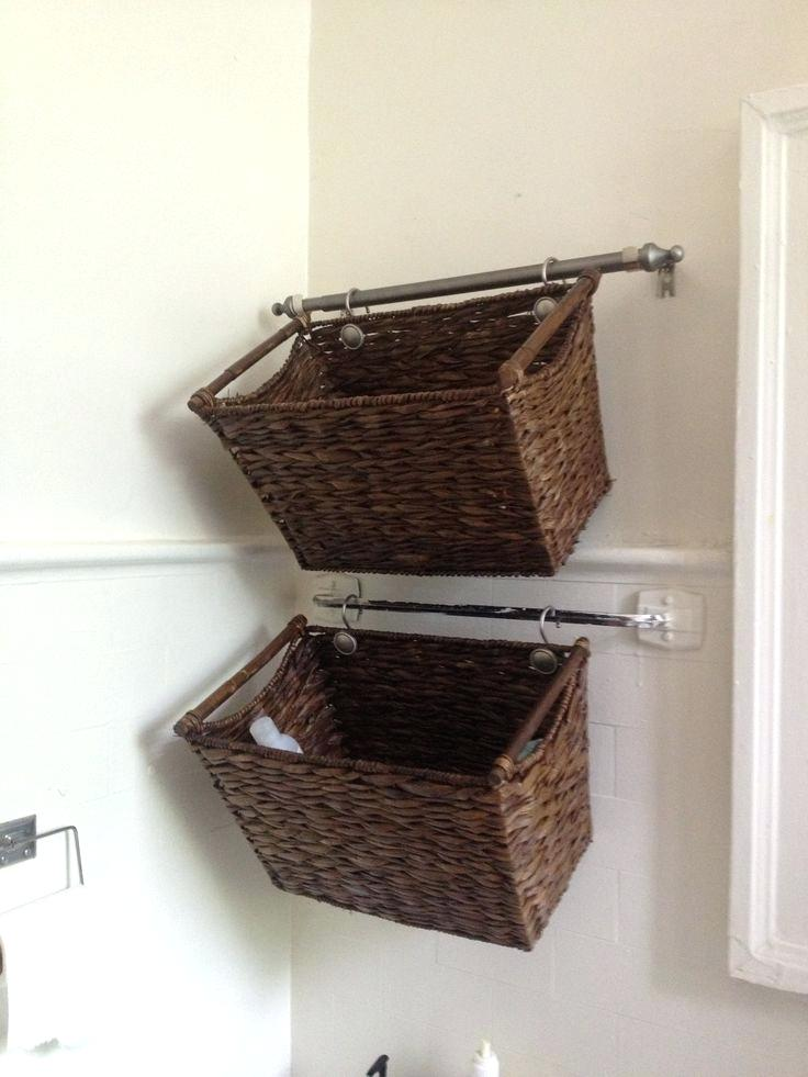 wall hanging baskets for bathroom storage wall mounted baskets stylish bathroom storage baskets house decorations JJPAZPD