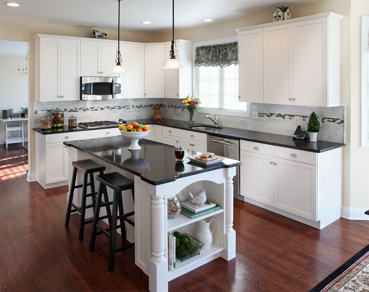 white kitchen cabinets with black countertops kitchen design article all about what #countertop colors look best FYVKOBW