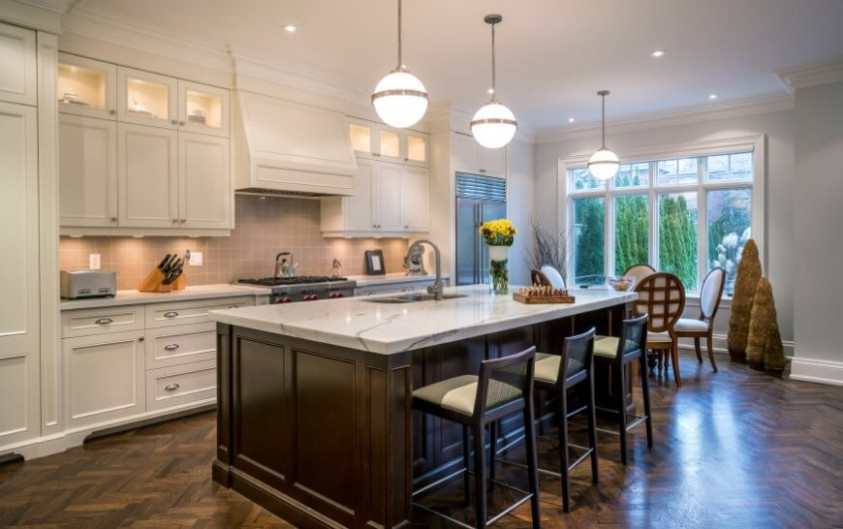 white kitchen cabinets with dark wood floors dark wood floors white kitchen cabinets - kitchen and decor KJUCRYN