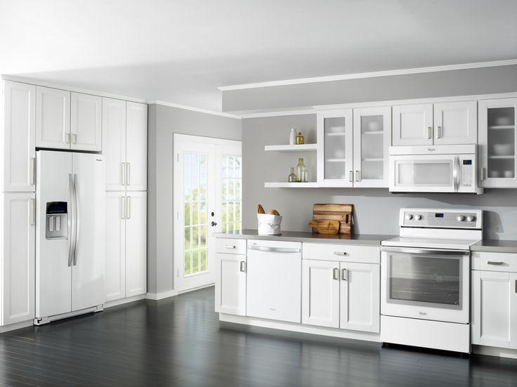 white kitchen cabinets with white appliances white kitchen appliances are trending white hot | house | HAZSTJY