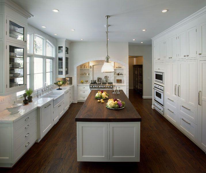 white kitchen island with butcher block top i love this white with dark floor and dark butcher LGQLFFE