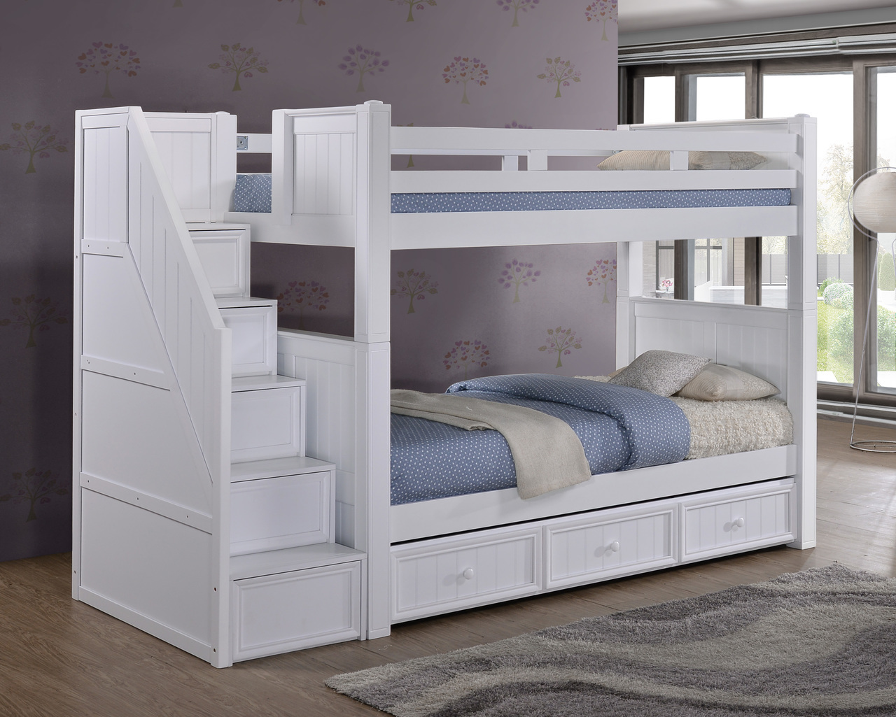 wooden bunk beds with stairs and drawers dillon white twin bunk bed with storage stairs | dillon HIJMXYB