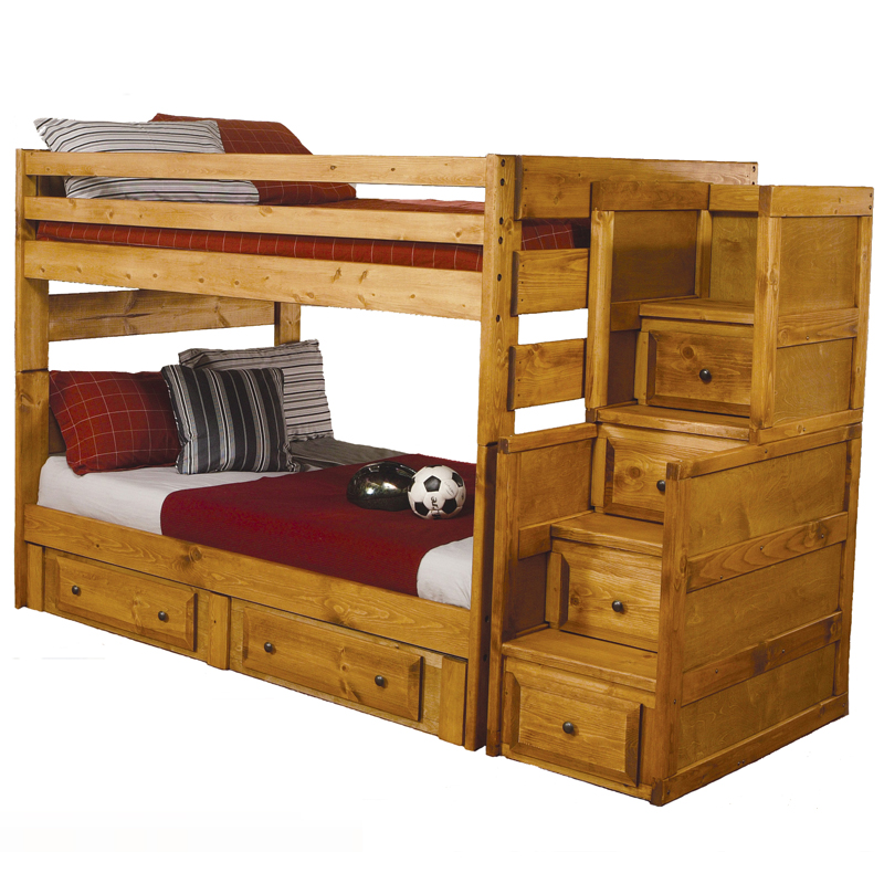 wooden bunk beds with stairs and drawers great bunk bed with stairs and drawers with solid oak SGYMPRB